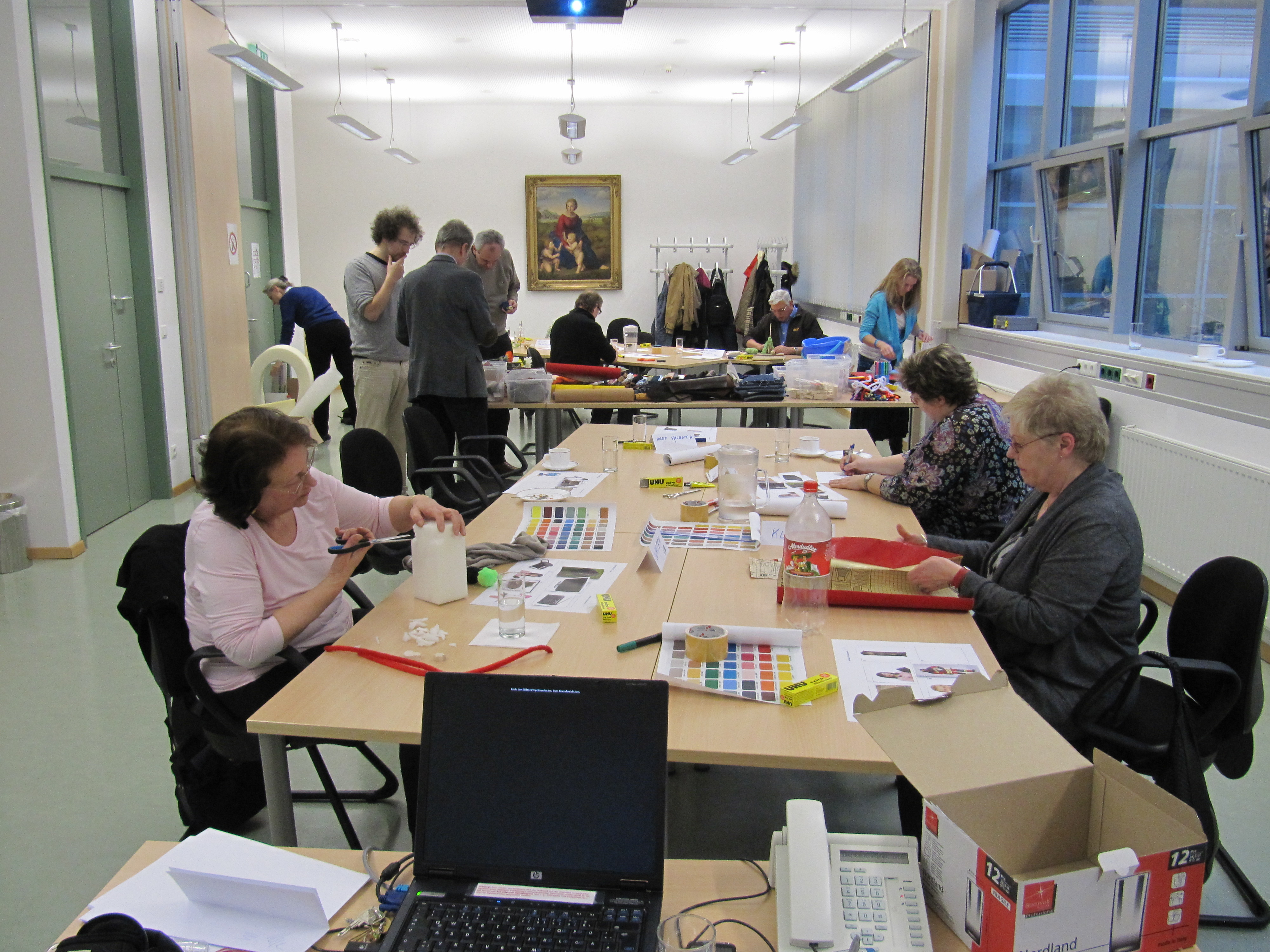 this photo shows a workshop at AAF